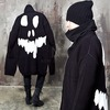 Rebelsmarket side opening skull back long knit cardigan 123 cardigans and sweaters 13