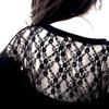 Romance black lace bat wing design top large leggings 3