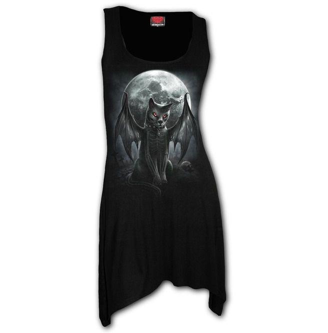 Vamp Cat Goth Black Plus Size Bottom Camisole Dress | | RebelsMarket