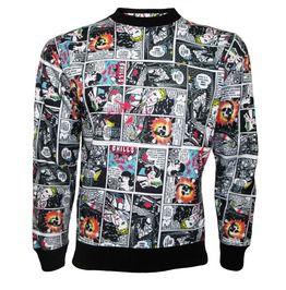 Classic Retro Comic Strip Book Retro Classic Print Crew Neck Sweatshirt