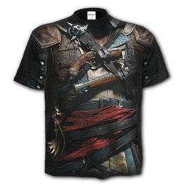 Tattoo Rock Heavy Metal Assassins Creed Iv Black Flag Allover T Shirt