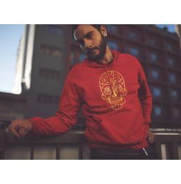 Men's Dia De Los Muertos Red Pullover Hoodie