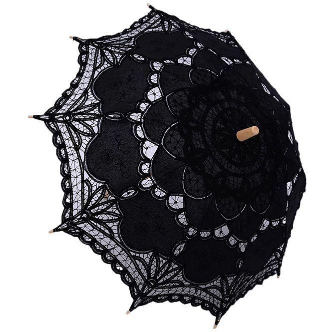 Renaissance Victorian Vintage Retro Lace Parasol Bridal ...
