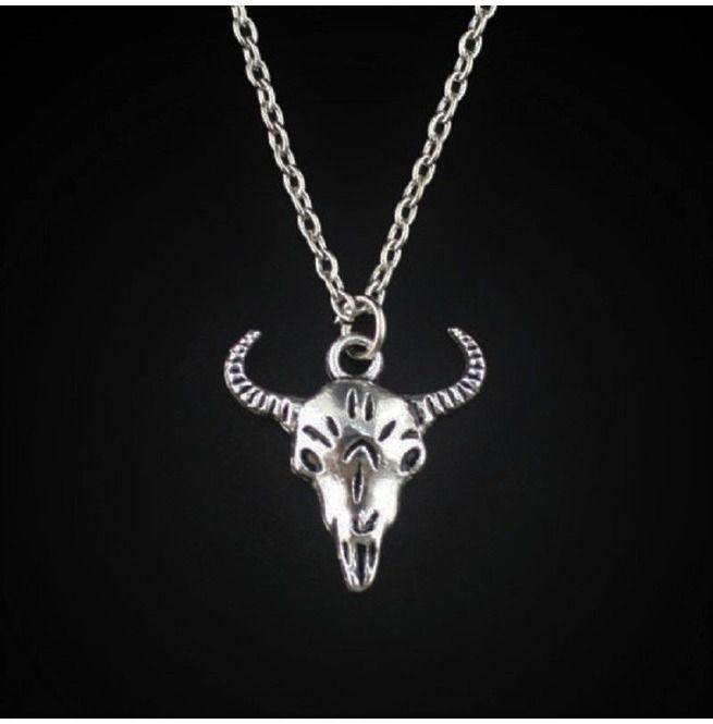Cow Skull silver pendant