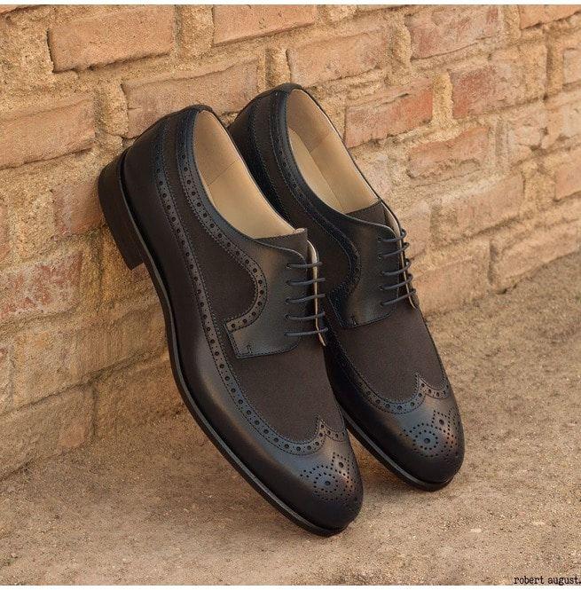 b08fdff27 Handmade Men Wig Tip Formal Shoes