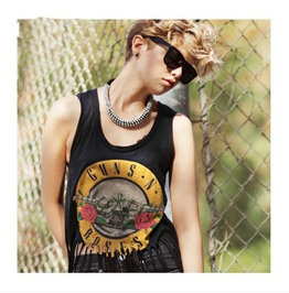 Gnr Pattern Tassel Short Sleeved T Shirt Tee
