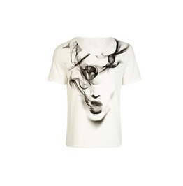 White Girl Pattern Short Sleeved T Shirt Tee
