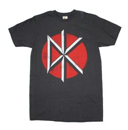 Round Neck Black Dead Kennedys Logo Print Slim Fit Cotton T Shirt
