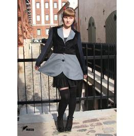 Masq Steampunk Pirate Lolita Jacket, Grey Black
