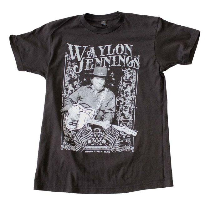 a9609dc6 Waylon Jennings Portrait T Shirt | Rockline | RebelsMarket
