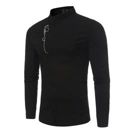 673fdb8b Men's Slanted Front Long Sleeve Shirt