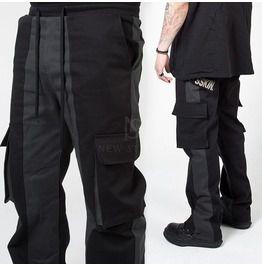 Contrast banding cargo pants 298 pants