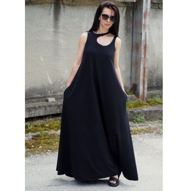 aecf811940a Black Kaftan Dress Black Long Dress Maxi Dress Plus