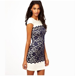 Lace Spliced Cute Fashion Sexy Dress