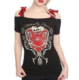 3676c896 3 D Print Sugar Skull Day Of The Dead Off Shoulder Bow Knot Shirt Top