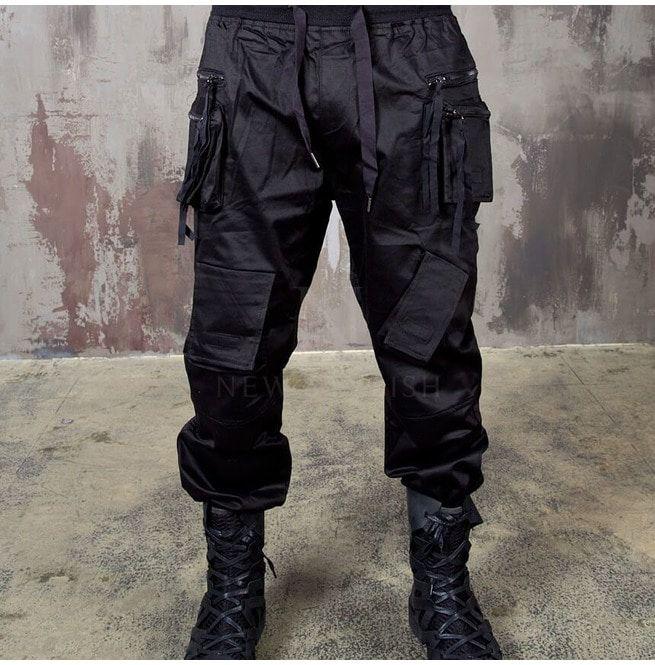 c07679e37a1 Double Zippered Techwear Cargo Banded Pants 300 | RebelsMarket