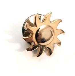 Cool small gold colour shining sun pin rebelsmarket
