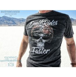 Death Rides Faster, Men's T Shirt, Custom Dyed Black