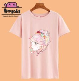 Anime girl pastel gothic cute lolita t shirt rebelsmarket