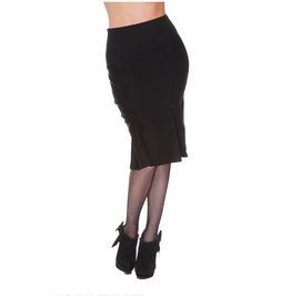 Voodoo Vixen Classic Black Pencil Skirt