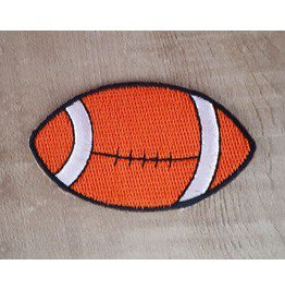 Football Embroidered Iron On Patch.