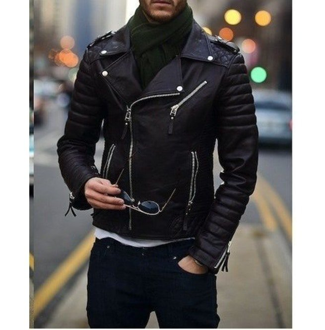 80157e524 Mens Biker Leather Jacket, Men Fashion Black Motorcycle Jacket, Jackets