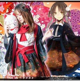Lolita Anime Oriental Grave Of Fireflies Sakura Ukiyoe Haori Costume Jj2194