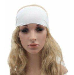 Beautiful Spandex Fabric White Elasticated Hairband