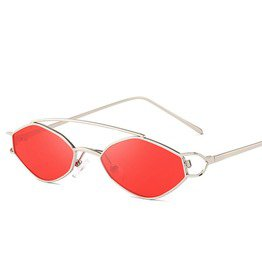 1d17693a02 New Trend Fashion Polarized Mirrored Lens Polygon Metal Frame Sunglasses