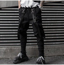 Mens slim fit casual pencil joggers trousers elastic waist sweatpants rebelsmarket