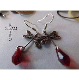 Sterling Silver Firefly Steampunk Earrings