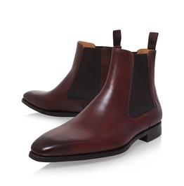 Handmade Men Burgundy Color Chelsea Boots, Leather Chelsea Ankle Boots