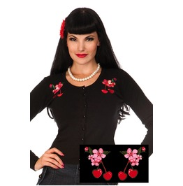 Voodoo Vixen Embroidered Cherry Cardigan