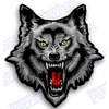 Wolf iron on embroidered patch patches biker pack patches 2