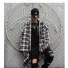 Korean fashion mens plaid shirt casual coat rebelsmarket