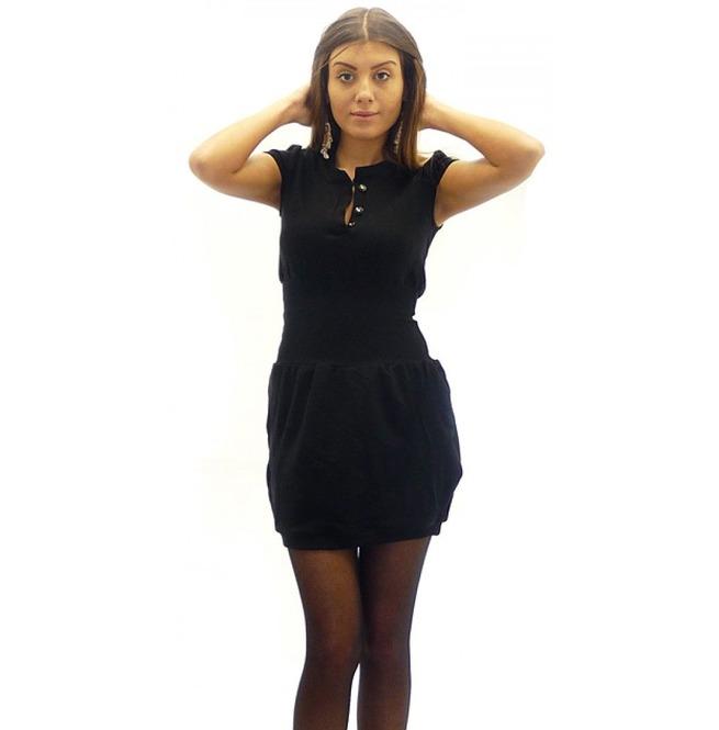 Short Bodycon Dress, Black Short Sleeve Dress, Summer Plus Size Dress