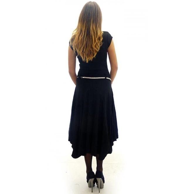 Asymmetrical Black Dress, Sleeveless Summer Dress, Plus Size Dress