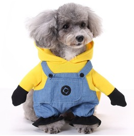 Pet Dog Minions Costume Dressing Up Party N12400