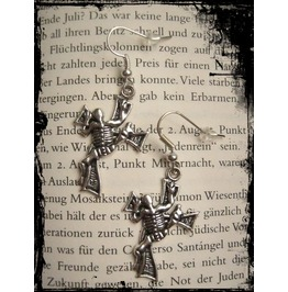 Skeleton Cross Earrings.