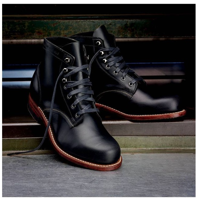 Handmade Men Black Casual Leather Ankle