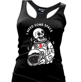 I Need Some Space Black Women's Racer Back Tank Top
