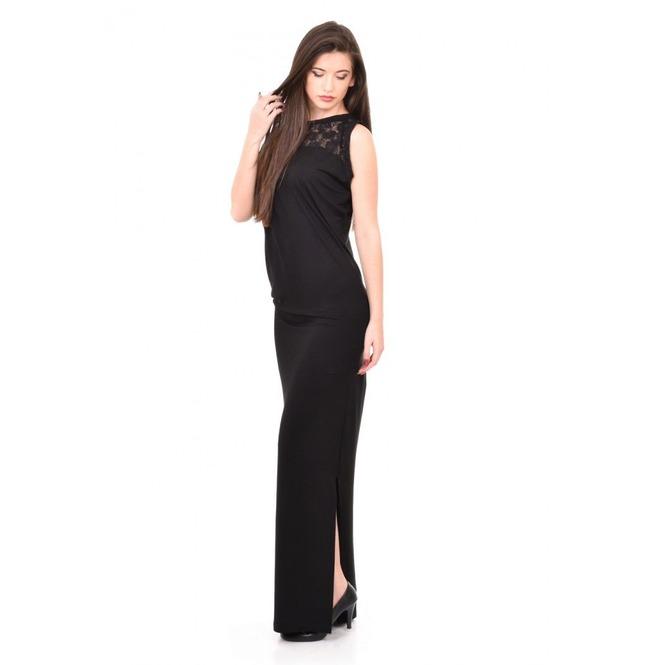Black Pencil Dress, Long Dress, Lace Dress, Sleeveless Dress, Plus Size  Dress
