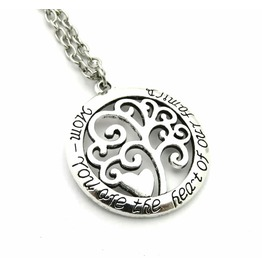 Cool Circular Mom You Are Heart Of Our Family Pendant Necklace Tree Of Life