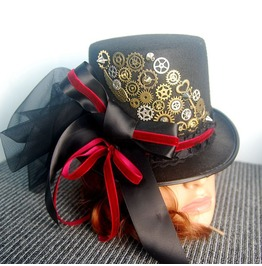 Victorian Lace Top Hats Festival Party Costume