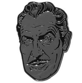 Vincent Price Silver Suave Pin