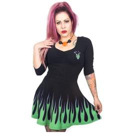 Villain Flame Skater Dress