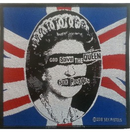 Sex Pistols God Save The Queen Patch 10cm X 9.5cm