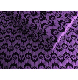 Baroque Bats On Purple Wrapping Paper, Purple Gothic Birthday Gift Wrap