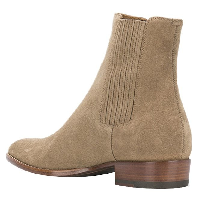 Pointed Toe High Top Slip On Suede