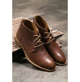 Handmade Men Antique Brown Leather Chukka Boots, Leather Casual Boots
